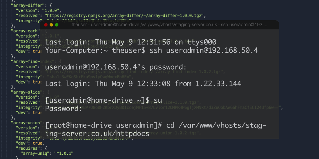 Importing SQL database through SSH
