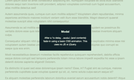 CSS-only fade-in modal
